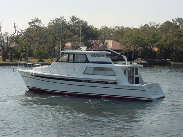 yacht sales and services 1985 huckins 50 custom pilothouse